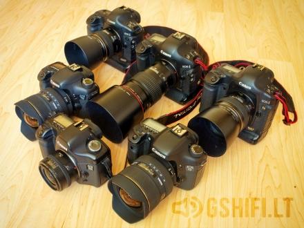 Fotoaparatai, objektyvai