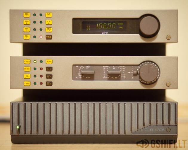 ♪♫Parduotas♫♪ QUAD 34 + 306 + FM4 Stereo Komplektas