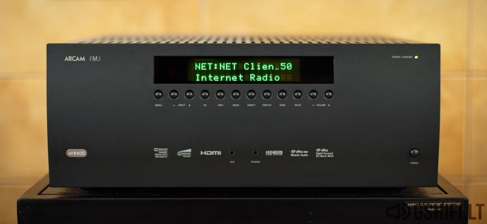 ♪♫Parduotas♫♪ ARCAM AVR400 Namų Kino Resyveris su USB, LAN, DAB