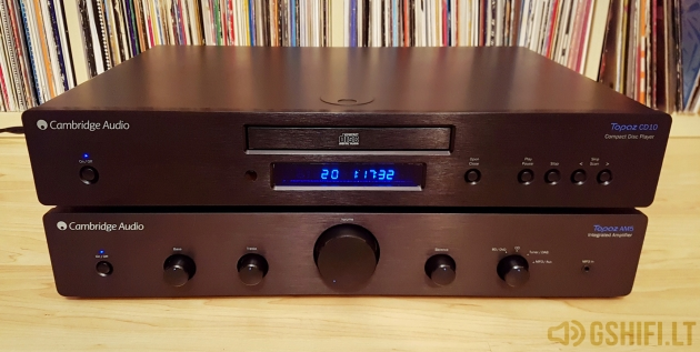 ♪♫Parduotas♫♪ Cambridge Audio Topaz AM5 + CD10 Stereo Komplektas