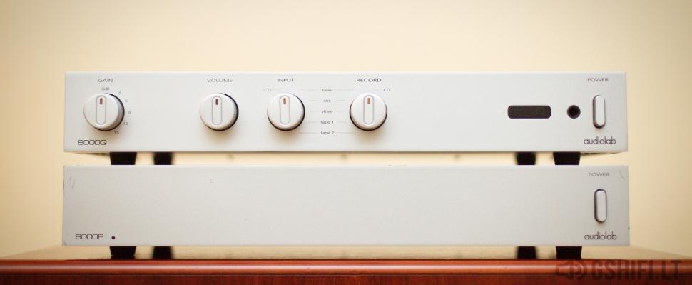 ♪♫Parduotas♫♪ audiolab 8000Q + 8000P Stiprintuvų Komplektas