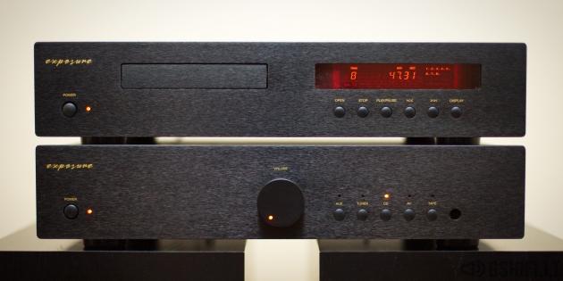 ♪♫Parduotas♫♪ exposure 1010 Stereo Komplektas (Stiprintuvas + CD Grotuvas)